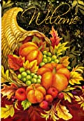Bountiful Blessings Thanksgiving Garden Flag