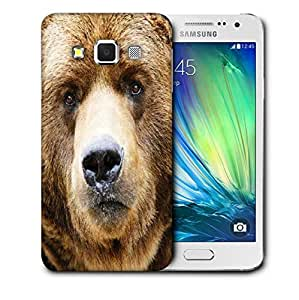 Snoogg Angry Bear Printed Protective Phone Back Case Cover For Samsung Galaxy A3