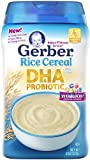 Gerber Baby Cereal DHA and Probiotic Rice 8 Ounce by Gerber Baby Cereal