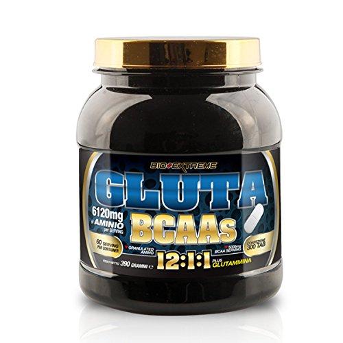 Gluta BCAAs - Bio Extreme - aminoacidi con Leucina e Glutammina (Formato: 300 tavolette)