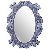 Shreenath Silver Wooden Mirror( 53.3 Cm X 1.3 Cm X 40.6 Cm )