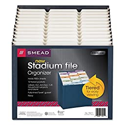 12-Pocket Stadium File, Navy, Letter