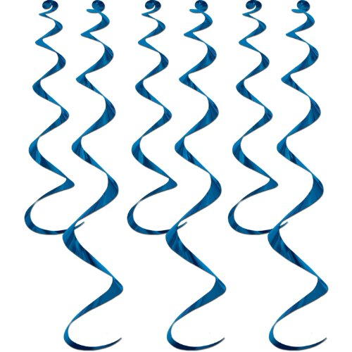 Twirly Whirlys (blue) Party Accessory  (1 count) (6/Pkg)