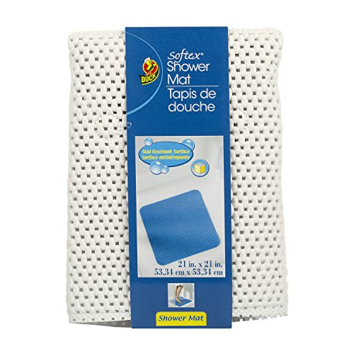 Duck Brand 393482 Softex Shower Mat, 21 x 21-Inch, White