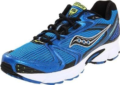 Saucony Men's Grid Cohesion 5 Running Shoe,Blue/Black/Silver,7.5 M US