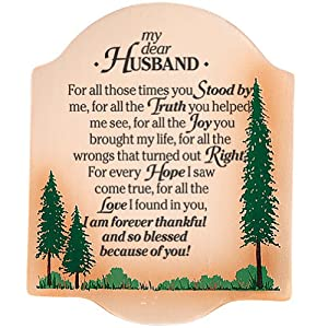Thoughtful my dear husband plaque meaningful words make him feel