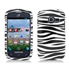 For Samsung Galaxy Centura S738C (Straight Talk) Image Protector Case, Zebra Black+White