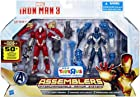 Iron Man 3 Assemblers Exclusive Action Figure 2-Pack Red Snapper Iron Man & Gravity Cloak Iron Man