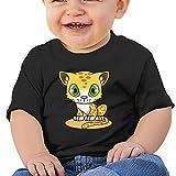 KKing Cartoon Cute Cat Toddler Fashion T Shirt Black 18 Months