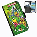 Hairyworm-Teenage Mutant Ninja Turtles Samsung Galaxy S3 Mini leather side flip wallet case for Samsung Galaxy S3 Mini phone