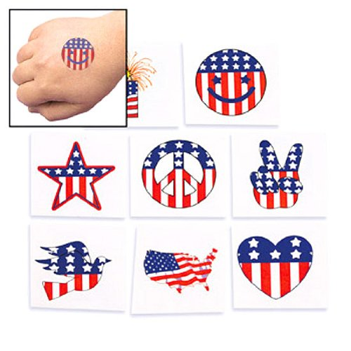 Temporary Patriotic Tattoos (6 dz) Picture