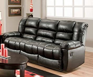 Chelsea Home Furniture Orleans Reclining Sofa - New Era Black