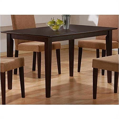 Coaster Hyde Rectangular Casual Dining Leg Table in Cappuccino (Table Only) (Kitchen Table And Chairs For 4 compare prices)
