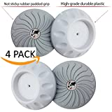 Baby Badger Wall Guard Pads (White 4-pack) Designed for Child, Dog or Puppy Pressure Safety Gates