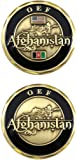United States Military US Armed Forces Operation Enduring Freedom OEF Afghanistan - Good Luck Double Sided Collectible Challenge Pewter Coin