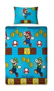 Character World Nintendo Mario Brothers Single Rotary Duvet Set