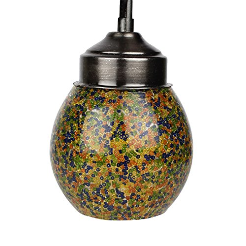 EarthenMetal Handcrafted Multicoloured Crystal Hanging Light