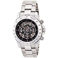 [ブルッキアーナ]BROOKIANA 腕時計 機械式  スケルトン 日付・曜日カレンダー BA1648-SVBK メンズ