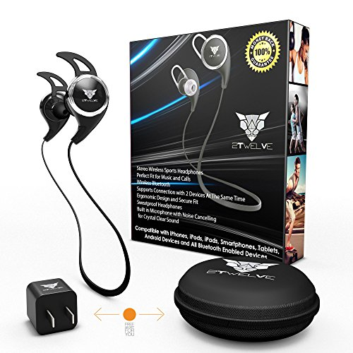 bluetooth headphones headset wireless sport earbuds noise cancelling sweatproof earphones. Black Bedroom Furniture Sets. Home Design Ideas