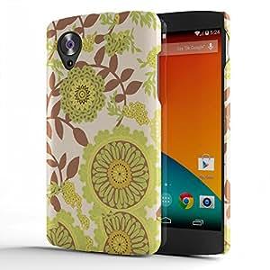 Koveru Designer Printed Protective Snap-On Durable Plastic Back Shell Case Cover for Google Nexus 5 - Flower Petal Floral