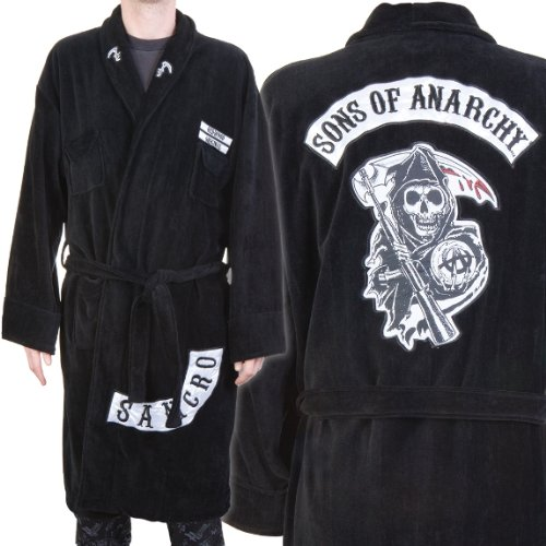 Old Glory Sons Of Anarchy Logo Bathrobe Home Décor