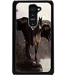 ColourCraft Horse with Feathers Design Back Case Cover for LG G2