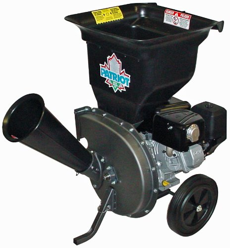 Patriot Products CSV-3100B 10 HP Briggs & Stratton Gas-Powered Wood Chipper/Leaf Shredder (Gas Wood Chipper compare prices)