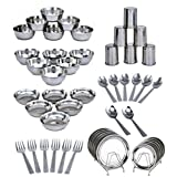 Shivom Stainless Steel Dinner Set Of 50 Pcs