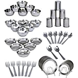 Kitchen Pro Stainless Steel Dinner Set Of 50 Pcs