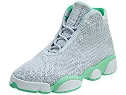 Nike Jordan Kids Jordan Horizon Gg Pr Pltnm/White/Wlf Gry/Grn Glw Basketball Shoe 5.5 Kids US