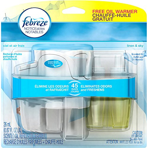 Febreze NOTICEables Linen & Sky Scented Oil Air Freshener Kit (Febreze Plug In Refills Linen compare prices)