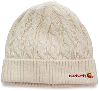 Carhartt Women's  Cable Knit Hat, Winter White Heather, One Size