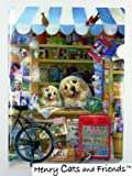 Henry Cats & Friends☆かわいい犬のシングルクリアホルダー◆楽しいお店番