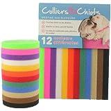 ColliersIDChiots (23cm - Races naines et nouveau-nés) - 12 Couleurs - Attache en tissu velcro flexible et lavable