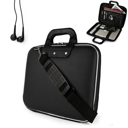 Uniquely Designed Sumaclife Brand Black Ultra Durable Reinforced 15 Inch Cady Shell Sports Bag For All Models Of The Apple Macbook Pro 15 Inch Laptop (Mac Os X Mountain Lion, Retina Display, 15 Inch Macbook Pro, Newest Version) + Earphones