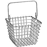 InterDesign Century Works Wire Organizer Basket with Handle, 7 x 7, Chrome