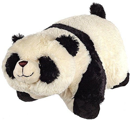 Pillow Pets Pee-Wees 11 Inch Folding Stuffed Animal - Comfy Panda - 1