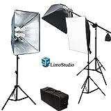 Combo de iluminación contínua para estudio de foto y video LimoStudio de 2400watt kit 2 softbox con Overhead y kit  de luces Boom