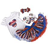 Highdas vestidos para ni�a bebe cumplea�os del mameluco Romper + Vestido de Tutu + Banda de cabeza + Zapatos 4 pcs, 12-18 Meses