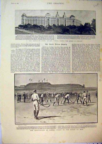 1897 Excelsior Hotel Regina Hockey Sport War Canea
