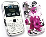 EMARTBUY SAMSUNG CH@T CHAT 335 ( S3350 ) GEL SKIN COVER PURPLE BLOOM