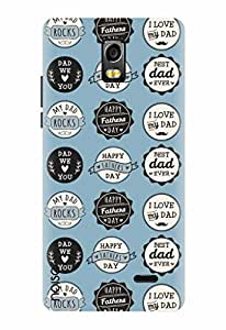 Noise Designer Printed Case / Cover for Lyf Water 10 / Quotes/Messages / Happy father Day Sky Blue Design