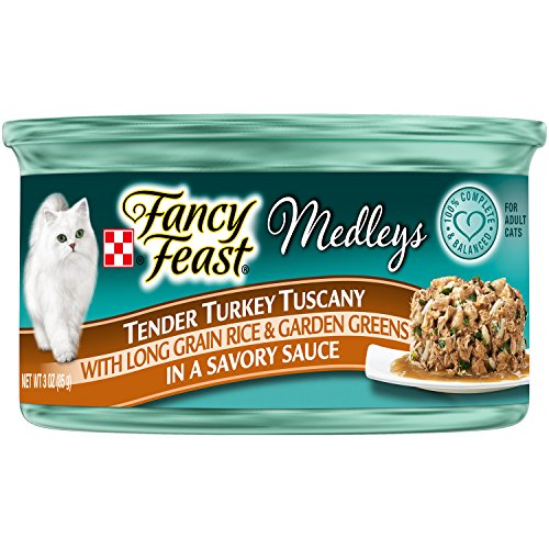 Fancy Feast Tender Turkey Tuscany With Long Grain Rice & Garden Greens In A Savory Sauce