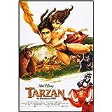 Cuadro sobre lienzo 40 x 60 cm: TARZAN, l-r: Kala (voice: Glenn Close), Tarzan (voice: Tony Goldwyn), Jane Porter...