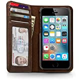 Twelve South BookBook for iPhone SE/5s, vintage brown   Vintage leather iPhone book case and wallet