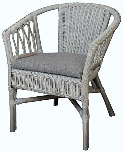stapelbarer rattan sessel stuhl aus natur rattan inkl. Black Bedroom Furniture Sets. Home Design Ideas
