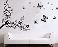 niceEshop(TM) Plum Blossom Tree &Flying Butterflies wall Sticker decals by niceEshop