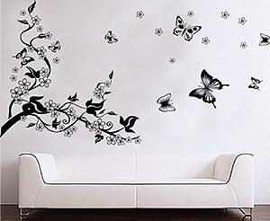 niceEshop(TM) Plum Blossom Tree &Flying Butterflies wall Sticker decals by niceEshop