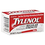 Tylenol Pain Reliever/Fever Reducer, Regular Strength, 325 mg, Tablets, 100 tablets