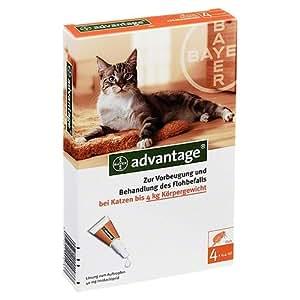 ADVANTAGE 40 für Katzen Lösung 4 Stück